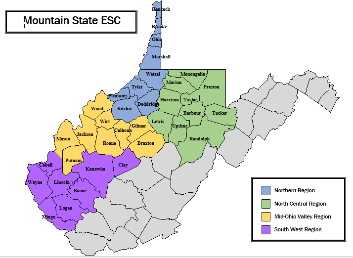 Adult Education | Mountain State Educational Cooperative Services on shenandoah county map, university of north carolina at chapel hill map, lincoln county map, roosevelt county map, doddridge county wv map, sumner county map, letcher county map, charleston wv county map, roane county map, upshur county wv map, west va county map, grave creek mound map, delaware county map, chariton county map, kanwha county map, monongalia county map, nodaway county map, hodgeman county map, boyd county map, greeley county map,